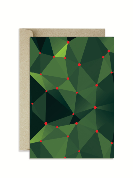 Christmas Holly Greeting Card The Paperface Nz