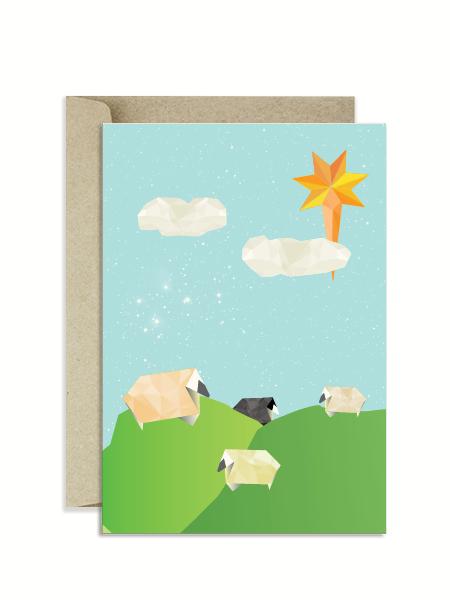 Christmas-Card-Origami-New-Zealand-Kiwi-Sheep
