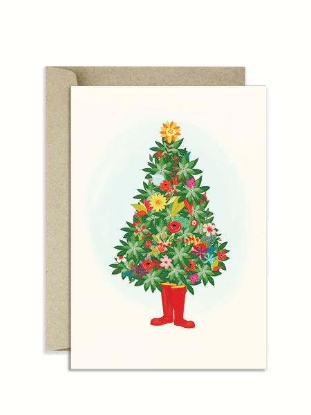 Christmas-Tree-Floral-Christmas-Card