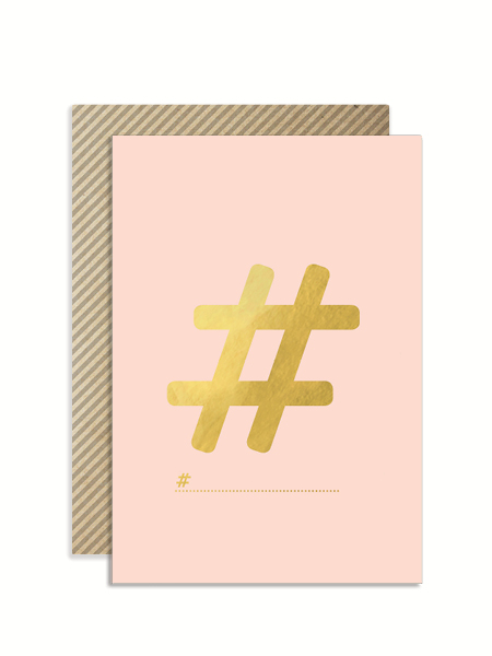 Hashtag card for any occasion