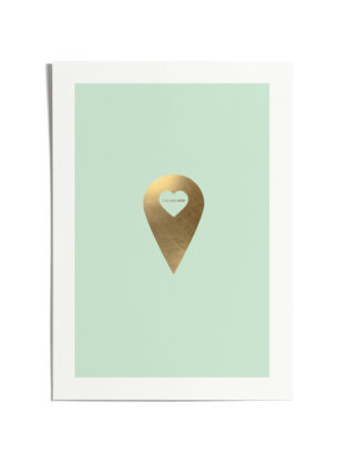 Love Marker Gold Foiled Art Print