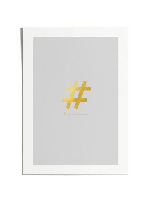 #HashTag Art Print