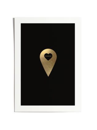Love Marker Black & Gold
