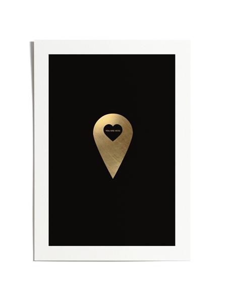 Love Marker Black & Gold