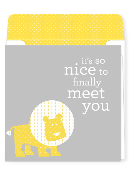 Nice to finally meet you welcome new baby greeting card welcome baby greeting card m4hsunfo