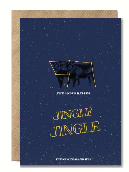 JingleJingle Angus Belles NZ XMas Card