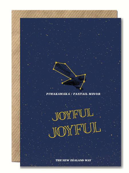 Joyful Joyful FantailNZ XMas Card